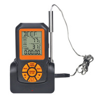 TS K35 Digital Backlight Wireless Remote Thermometer LCD Screen 50M Waterproof BBQ Thermometer