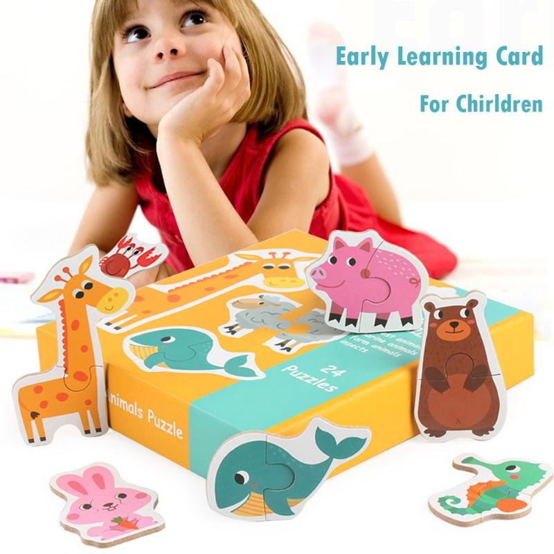 Kids Large Matching Puzzle Games Early Learning Card My ...