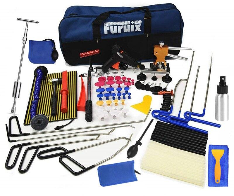 PDR Tools Paintless Dent Removal Rods Dent Puller Dent Lifter Light Slide Hammer pdr Glue Kit