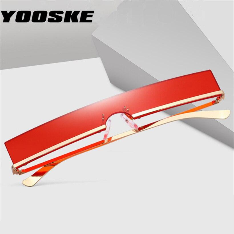 YOOSKE Fashion Sunglasses Metal-Frame Rectangle Trend Vintage Cateye High-Quality Women