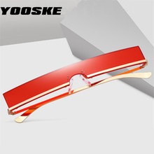 YOOSKE Fashion Sunglasses Men Women Trend Rectangle Sun Glas