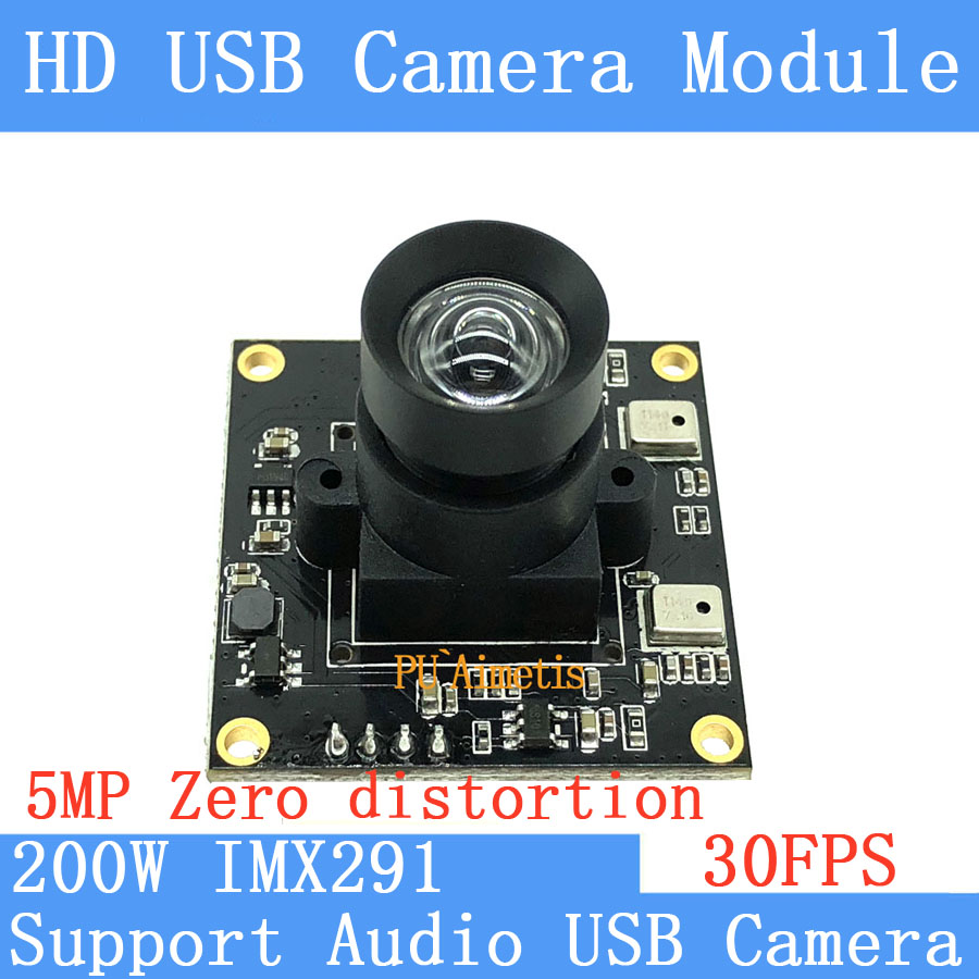 HD Non Distortion Star Light Low illumination Sony <font><b>IMX291</b></font> 2MP Full HD 1080P Webcam UVC USB <font><b>Camera</b></font> <font><b>Module</b></font> Support audio image