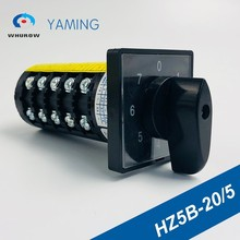 цена на 7 position Rotary Switch 20A 660V 5 poles Custom Cam Changeover switches screws universal manual electrical HZ5B-20/5