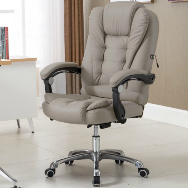 Купить с кэшбэком Hick Lift Rotation Massage Chair Modern Simple Office Boss Chair Backrest Adjustable with Footrest Comfortable Computer Chair