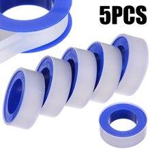 Fita de encanamento 5 peças, rolo de encanamento, encanamento, tubo de água, fita de vedação, ptfe