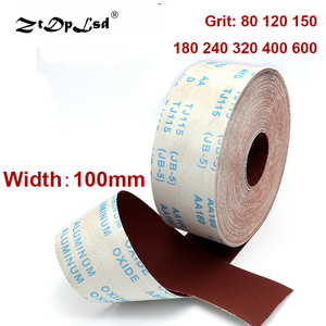ZtDpLsd 1 Meter 80-600 Grit Emery Cloth Roll Polishing Sandpaper For Grinding Tools Metalworking Dremel Woodworking Furniture