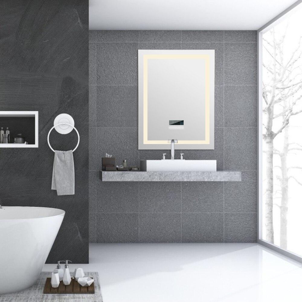Schminkspiegel Neue Mode Dimmbare Wand-montiert Led Bad Spiegel Moderne Intelligente Anti-fog-spiegel Mit Bluetooth Stereo Hwc Von Der Konsumierenden öFfentlichkeit Hoch Gelobt Und GeschäTzt Zu Werden Schönheit & Gesundheit