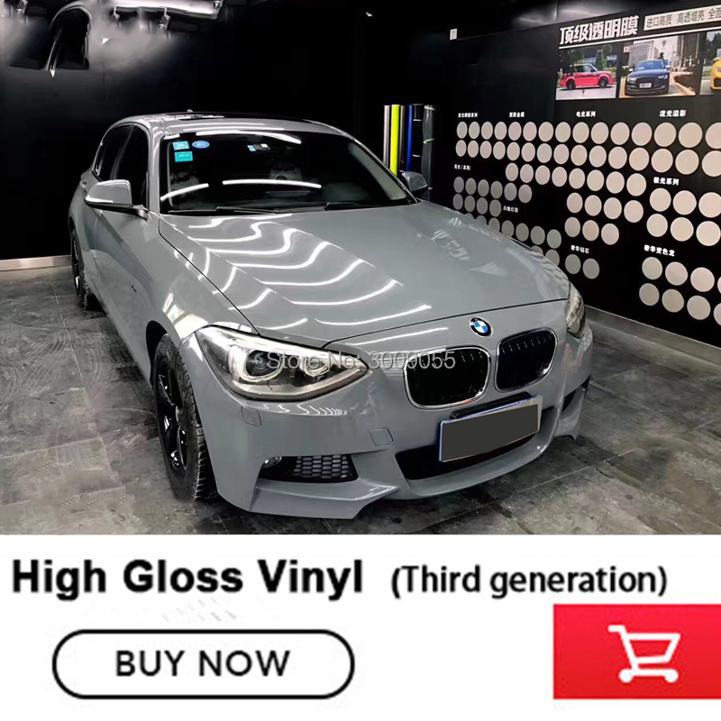 High Quality Super Glossy Cement Grey Car Body Vinyl Wrap