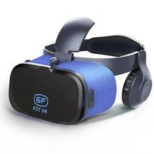 07169d591 FiiTVR 6F الواقع الافتراضي VR نظارات للجوال لعبة سينما الأفلام مع سماعات  خوذة نظارات ل 4.7-6.3 بوصة هاتف محمول