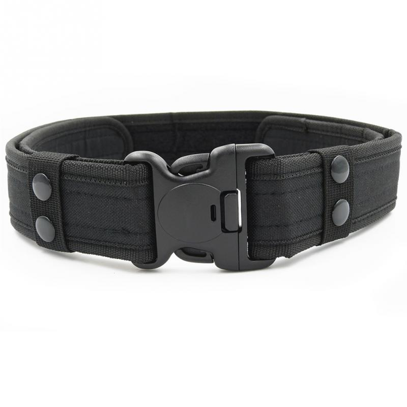 1PC For Men Outdoor Waistband Army Practical Plastic Buckle Belt Male Practical Waistband Camouflage Tactical