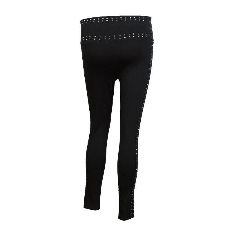 Cintura Muerte Nuevos Fondo Moda Pu Mujeres Cuentas Leggins 2018 Apretado Black La Metal Elástico Patchwork Las Wc53601l Mujer De Con Pantalones Alta HHB8rWgfw