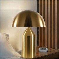 Modern yatak odası Led demir masa lambası mantar işığı başucu ofis oturma odası kapalı dekoratif masa lambaları aydınlatma armatürü