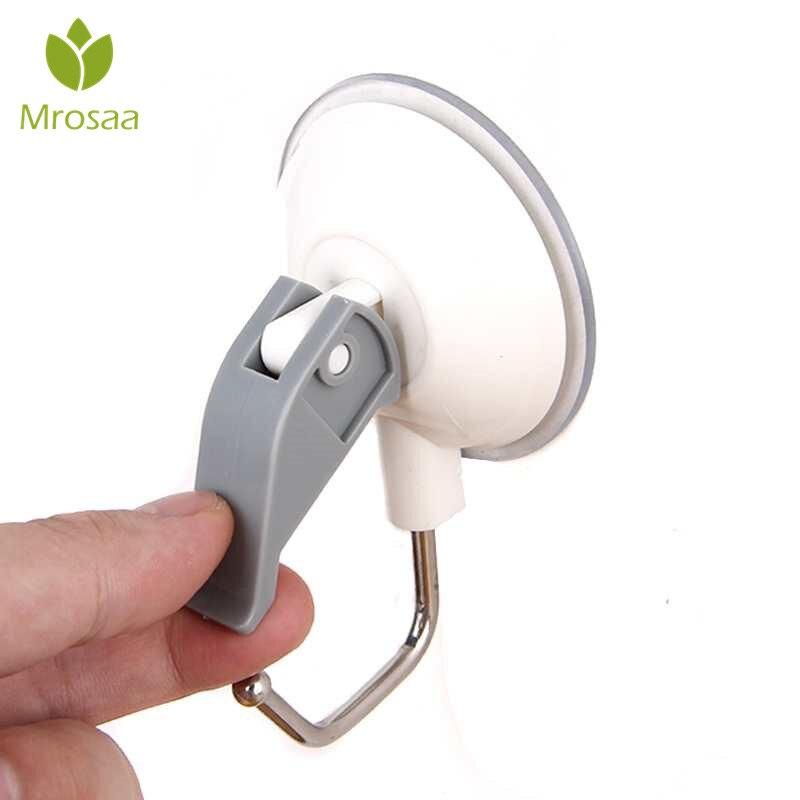 Mrosaa Bathroom 3kg Payload Reusable Durable Waterproof Powerful Vacuum Suction Cup Robe Towel Hook Household Accessories