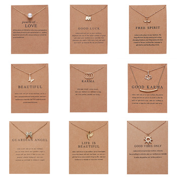 Fashion Gold-color Good Vibes Only Sun Necklaces & Pendants For Women Jewelry