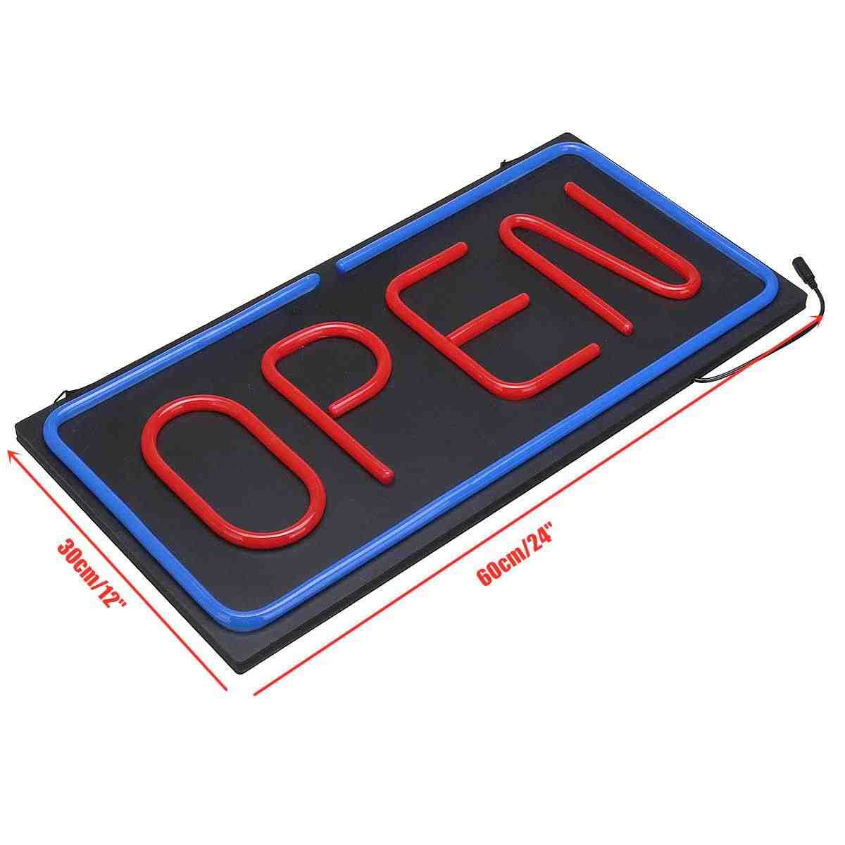 Светодиодный стеклянный неоновый свет трубки Открытые знак для магазина Магазин Бар Кафе пивной деловой свет 60*30 см яркий знак коммерческое освещение 100-240 В