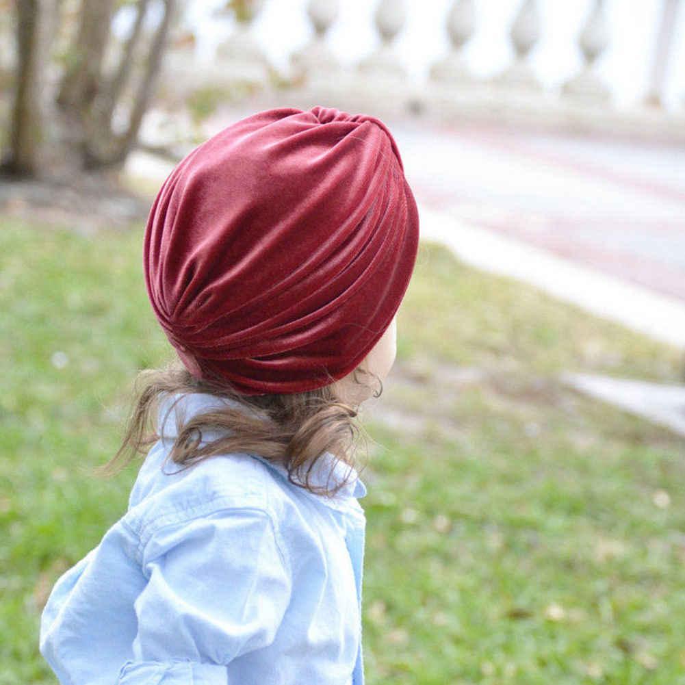 ทารกแรกเกิดเด็กวัยหัดเดินเด็กสาวนุ่มหมวก Turban Bow Knot ใหม่หมวกหมวก Turban หัว wraps ฤดูหนาวหมวก