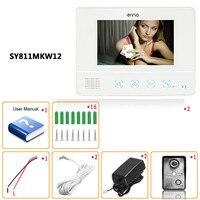 Визуальный домофон дверные звонки 7 ''tft ЖК дисплей проводной видео Touch Pad водостойкий ночной вид HD 700TVL охранных камера мониторы бесп