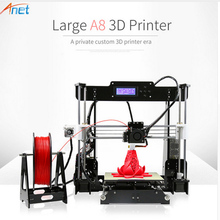 Anet A8 3d Printer High Precision Affordable Chinese 3d Printer Reprap Prusa i3 DIY 3d Printer Metal Multicolor With Filament