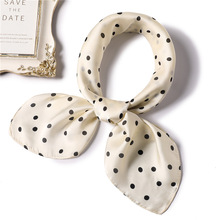 Silk Scarf Women 70*70cm 2019 New Dot Point Small Square Scarves Headband Wrist Wrap Head Lady Wraps Nechkerchief