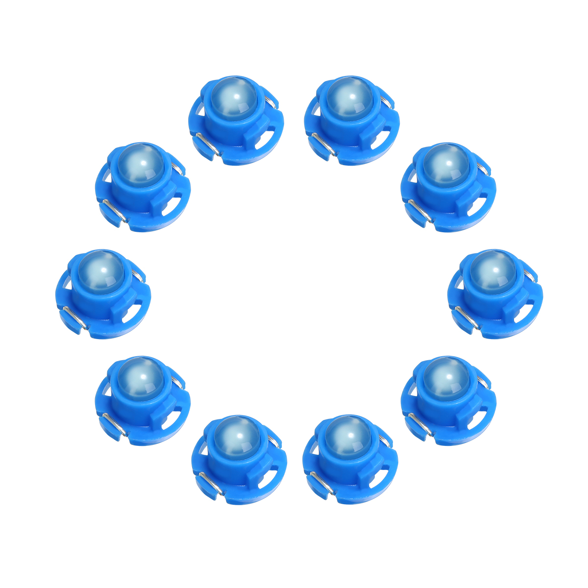 New Arrival 10pcs T4 7 Blue LED Instrument Light 12V Dashboard Climate Control Light Bulb in Signal Lamp from Automobiles Motorcycles