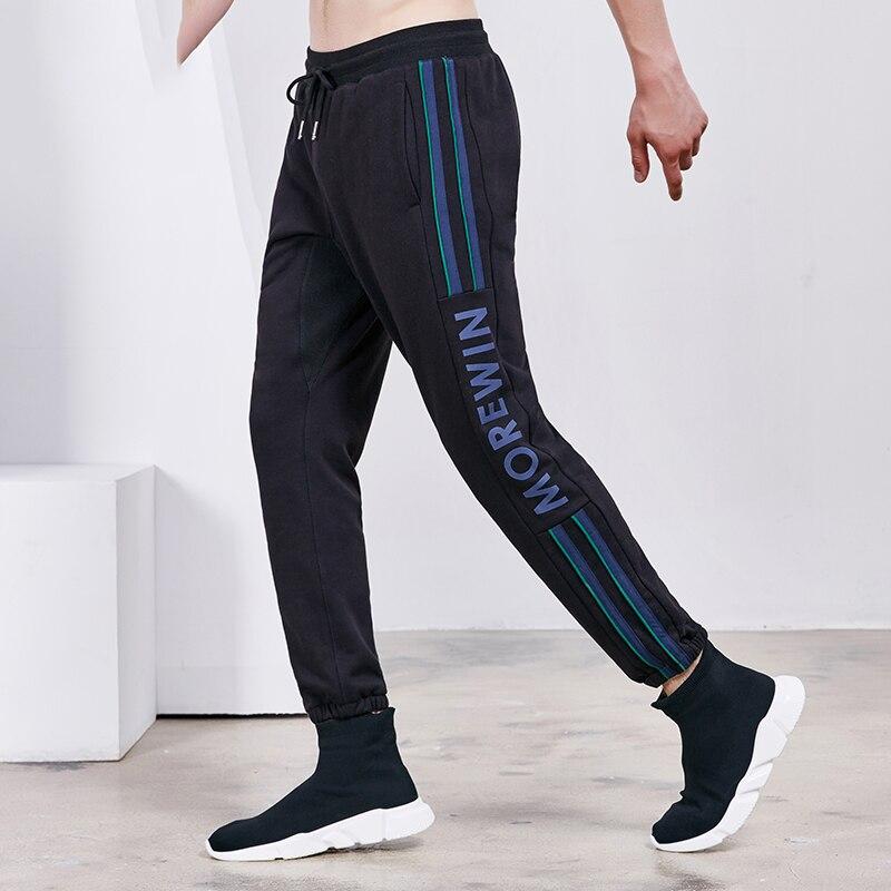 Willarde Winter Sports Running Pants Men s Cotton Striped Letters Long Trousers Fitness Workout Basketball Sweatpants