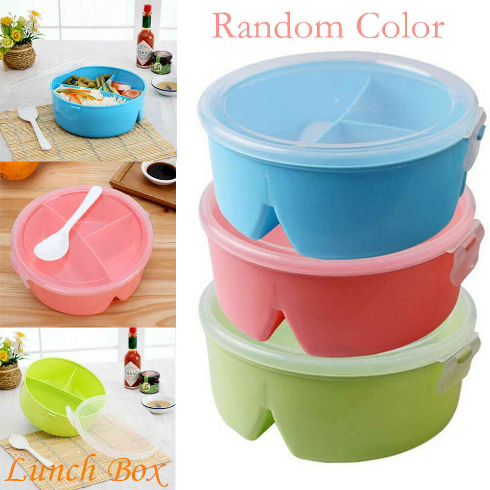 2019 Newest Hot Portable Lunch Box Wheat Straw Picnic Microwave Bento Food Storage Container New