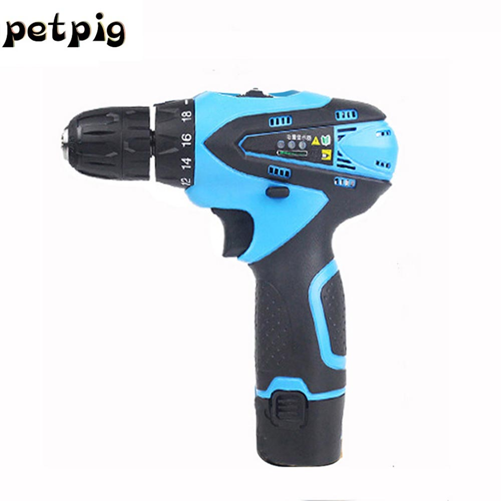 цена на Woodworking Tools Rechargeable Lithium Battery Cordless Electric Drill 12V Electric Screwdriver Torque Screw Gun Power Tools