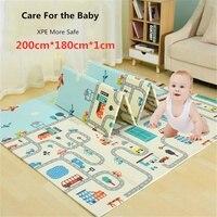 200x180x1 см младенческой ребенка играть коврики XPE головоломки детский коврик утолщаются Tapete Infantil ребенка ползать Pad малыша складной коврик ко...