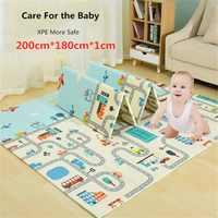 200x180x1cm Infant Baby Play Mat XPE Puzzle Children Mat Thicken Tapete Infantil Baby Crawling Pad Toddler Folding Mat Nursing