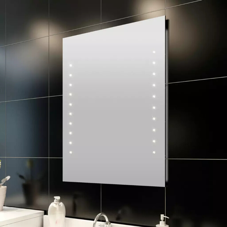Vidaxl Bathroom Mirror Light LED Mirror Wall 50 X 60cm Energy-Saving Wall Cosmetic Mirror Lighting