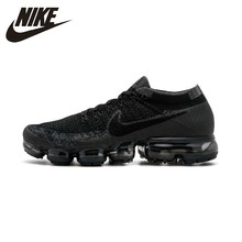 NIKE AIR VAPORMAX FLYKNIT Men Running Shoes Breathable Sports Sneakers New Arrival #849558-007 nike air vapormax original new arrival authentic flyknit men s running shoes sneakers sport outdoor good quality ah9046