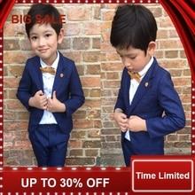 Children Blazers Suits Formal Baby Boy's Clothing Suit Kids Jacket + Pant +Shirt Party Suit  недорого