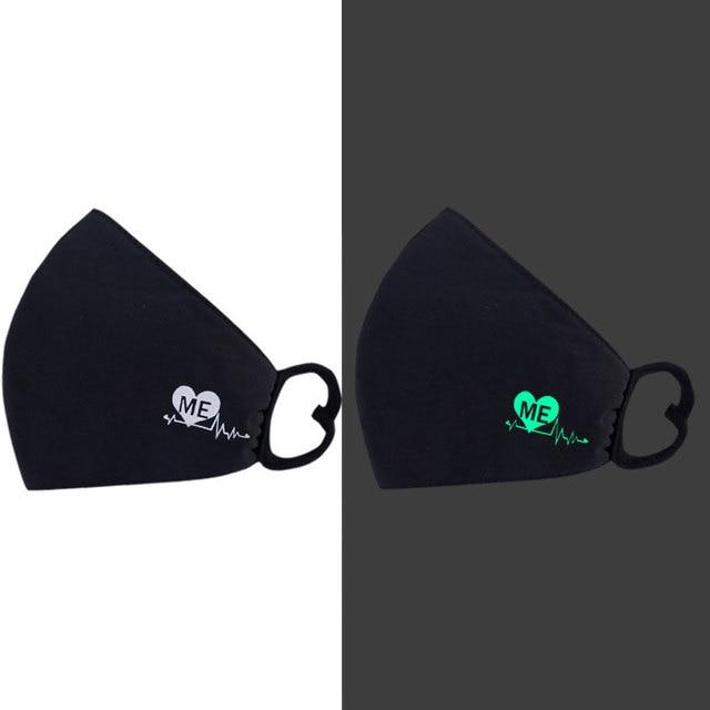 Cotton Luminous Masks Face Masks Air Pollution Black Anime Anti Dust Masks Windproof Proof Flu Face Mask Facial Mask Fashion 1
