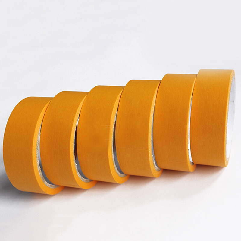 1 Roll Paper Tape Model Masking Tape Fine Line DIY Spraying Craft Tools Accessories 2mm/3mm/6mm Yellow 18m