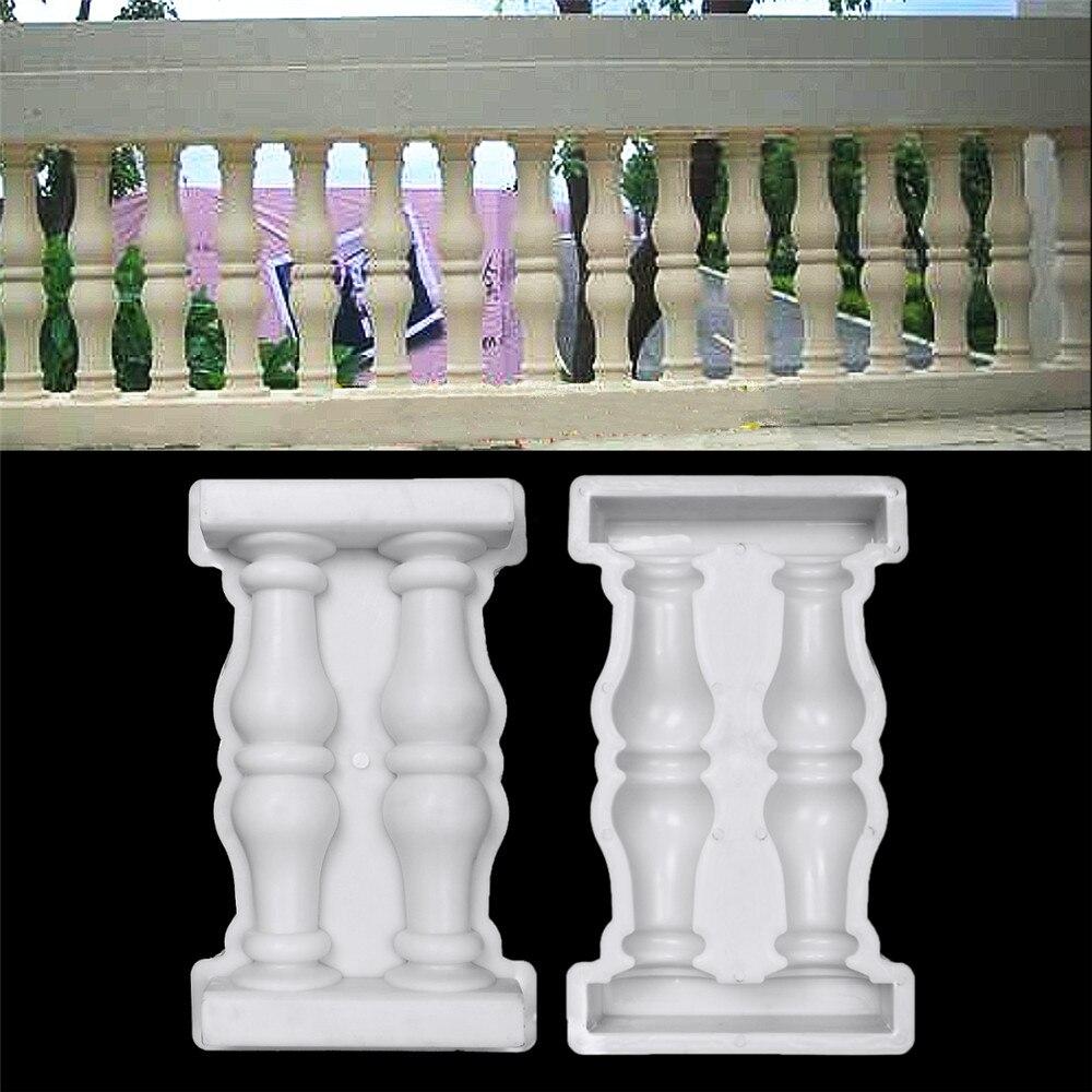 45x28x7cm Roman Column Mould DIY Paving Molds Balcony Fence Garden Pool Cement Railing Plaster Concrete Mould Guardrail