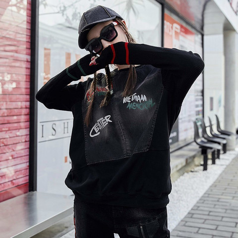 Max LuLu Famous Brand Ladies Punk Knitted Tops Tee Shirts Womens Denim Long Sleeve T-shirt Vintage Ladies Harajuku Winter Tshirt Islamabad