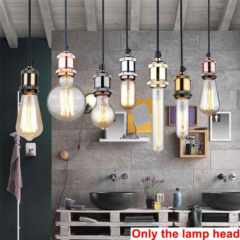 Waterproof Durable Base Adapter Industrial Vintage Lamp Aluminum Socket For E27 Bulb Lamp Bed Room Retro Fittings lamp holder