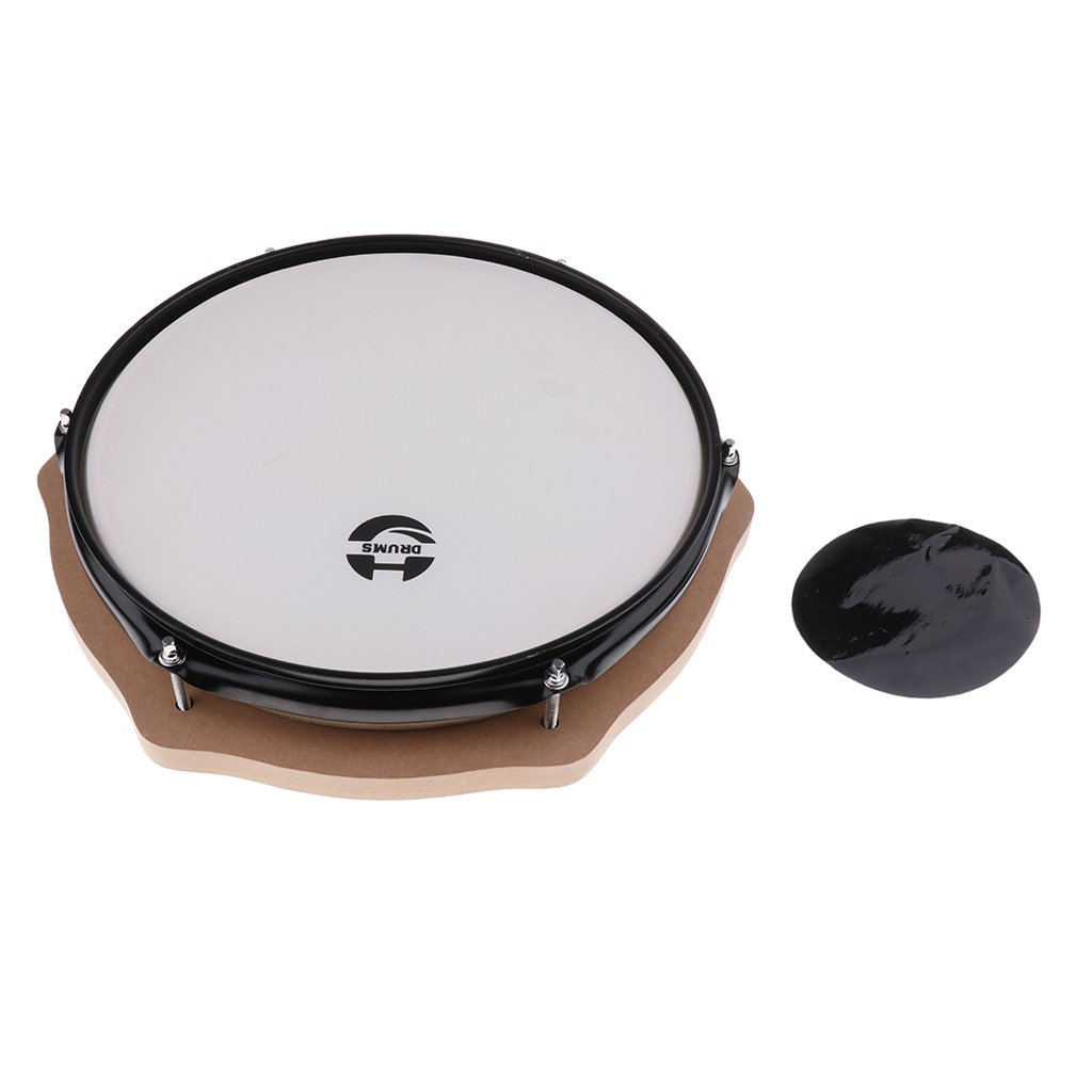 12 Inch Mute Drum Percussion Musical Instrument Practice Tool Early Learning Educational Toys for Children Toddler Kids - 6