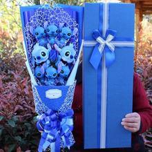 Экшн фигурка из ПВХ «Стич и ЛиЛо» букет цветов кукла животное