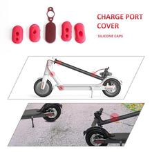 4pcs Case Silicone Cap M365 Electric Scooter Charge Port Cover Dust Plug Outdoor Replacement Accessories