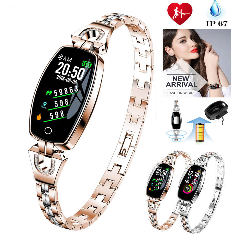 Fashion Fitness Tracker Waterproof Smart Watch Pedometer H8 Color Screen Health Sport Heart Rate Monitor Smart Bracelet Watch
