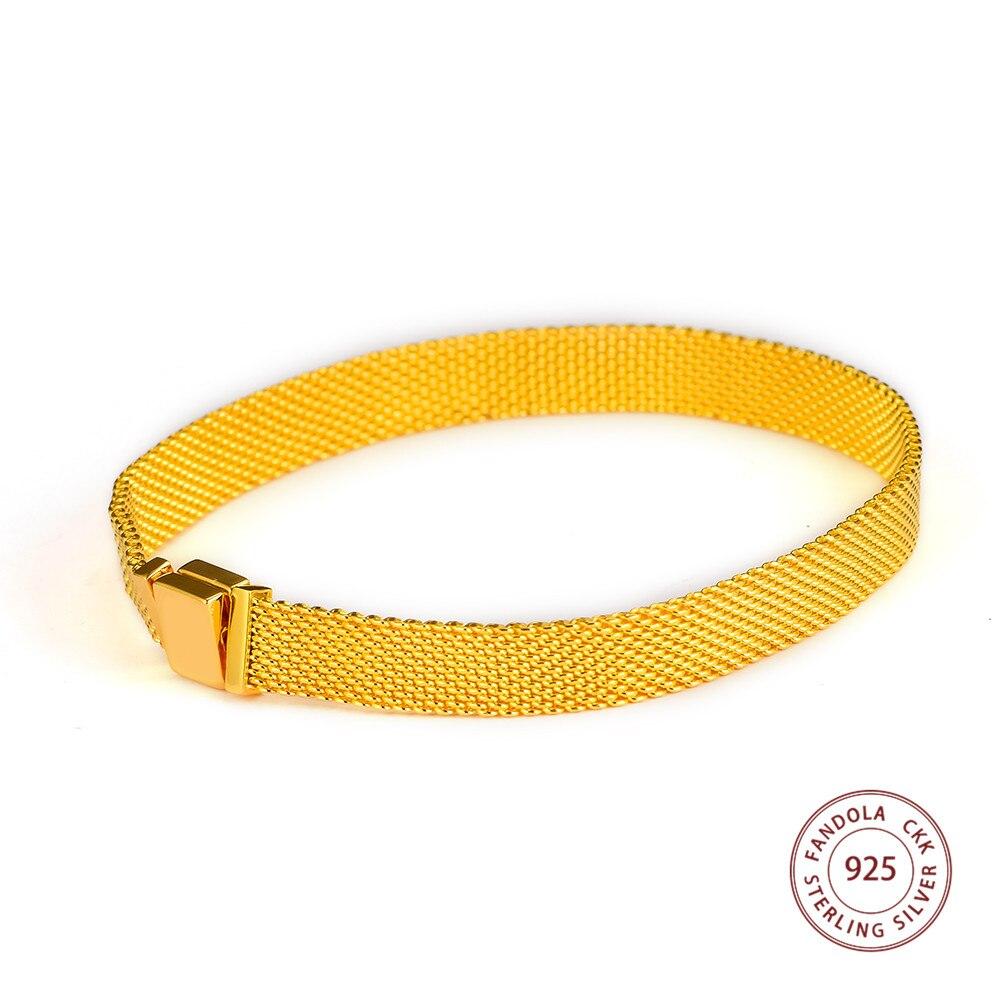 Brillant réflexions bracelets porte-bonheur Argent 925 Argent Sterling bracelets bracelets pour femme bijoux à bricoler soi-même faisant pulseras mujer