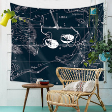 Tarot Constellation Mandala Tapestry Wall Hanging Astrology Starry Sky Mural Divine Cloth Tapestries Carpet Throw