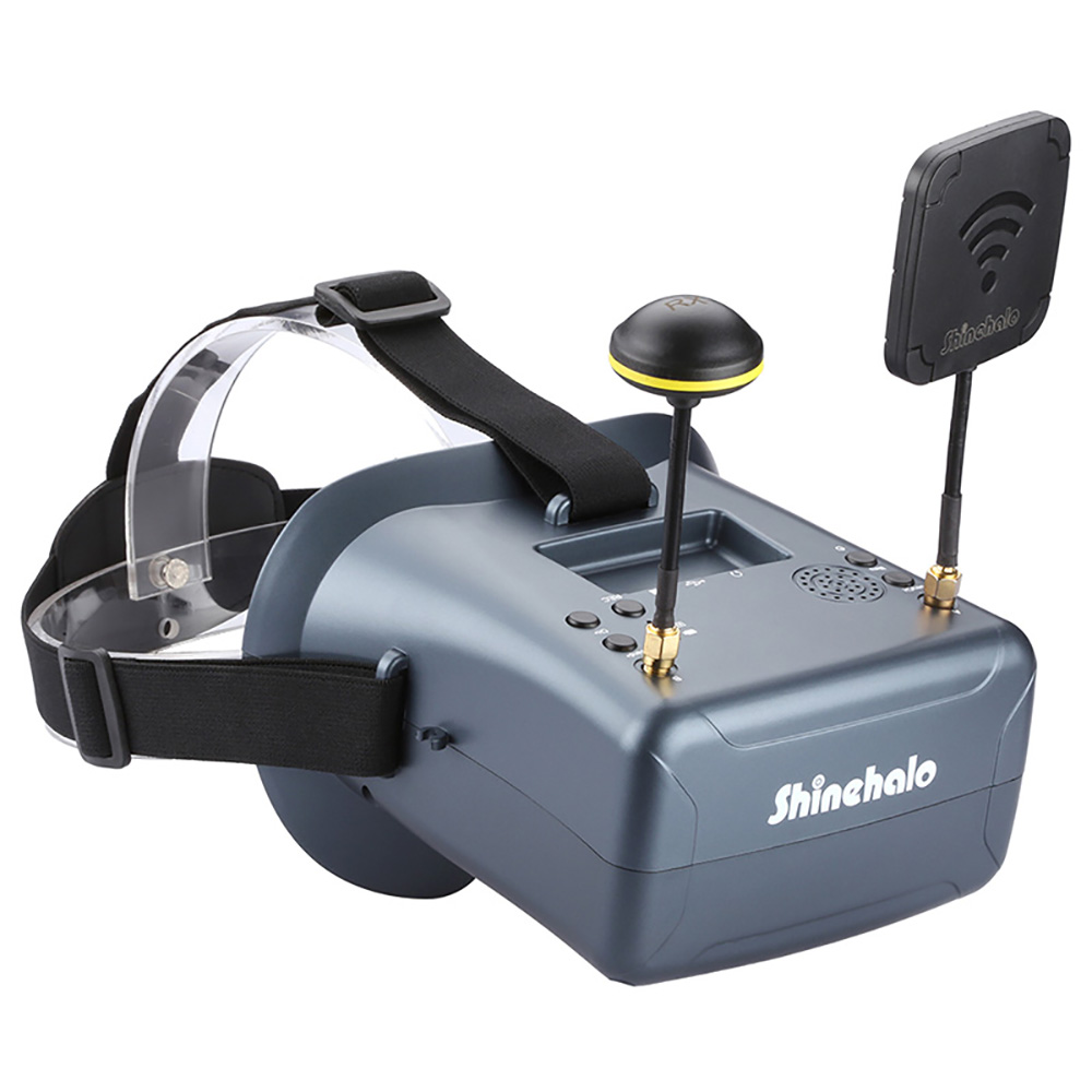 LS-008D 5,8g FPV Googles VR очки высокое качество 40CH с 2000mA батарея DVR разнообразие для RC модель 92% прозрачный объектив Drone
