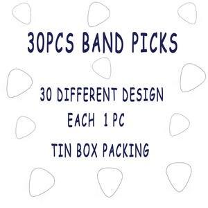 ec336667633 15 pcs 30 pcs 10 pcs metal rock band guitar pick with tin box packing