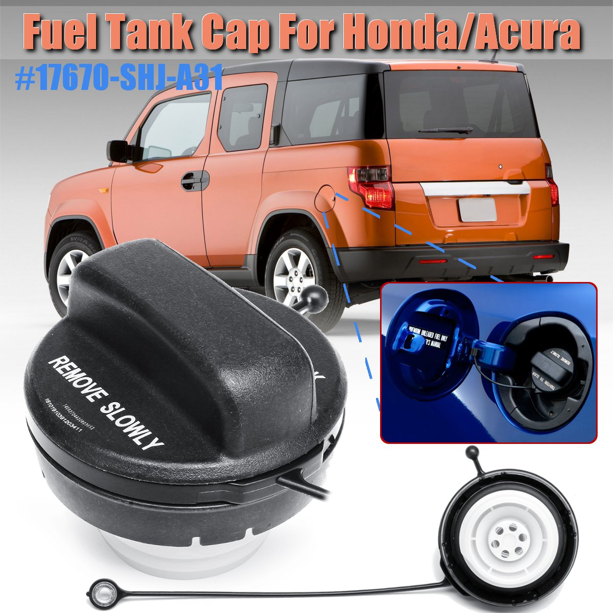 Tank Covers Just 17670-shj-a31 Fuel Gas Petrol Filler Tank Cap For Honda For Cr-v Pilot Ridgeline S2000 For Acura Tsx Tl Rsx Mdx Lovely Luster Automobiles & Motorcycles