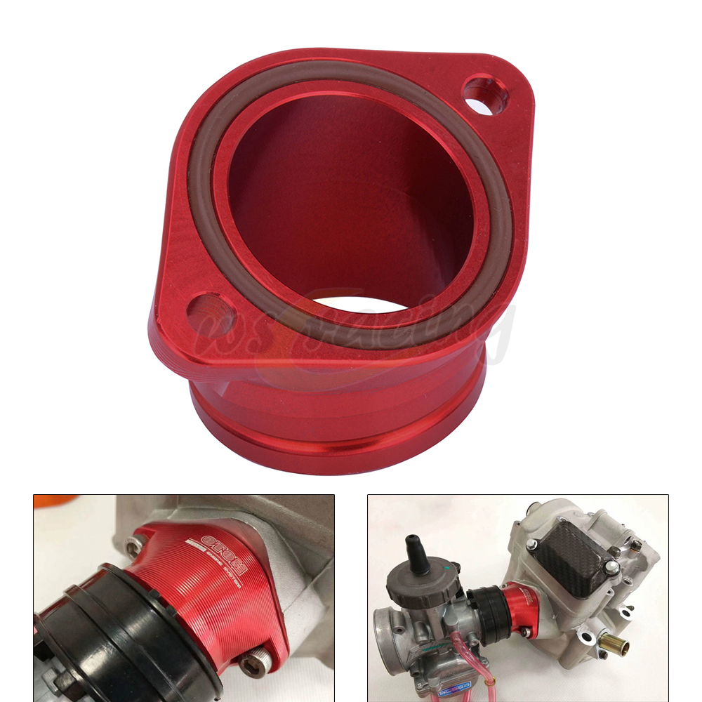 CNC Aluminum Alloy Carburetor Intake Manifold Interface Pipe O-Ring For ZONGSHEN NC250 NC450 NC 250 450 Motorcycle