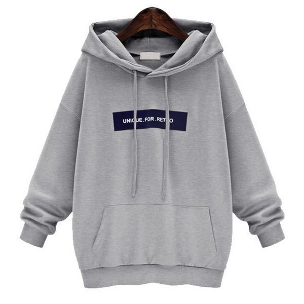 Women Hoodie Sweatshirt Casual Loose Long Sleeve Hooded Jumper Sweatershirts Pullover