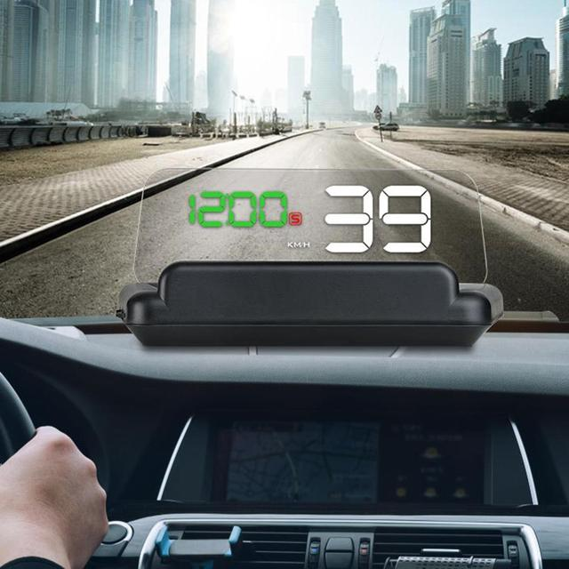5 Inch GPS HUD Car Head Up Display Car gps Speedometer Auto Windshield Projector LED Projection hud Display Car Electronics