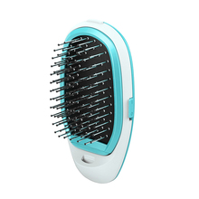 Mini Straight Hair comb Portable Electric Negative Ionic Hairbrush Styling Combs Antic-Static Scalp Massager Straightener Brush